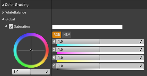 Unreal Engine 4 Post Processing - Color Grading Global Options