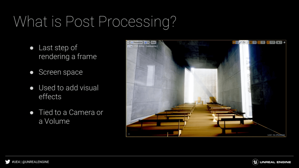 Unreal Engine 4 What is Post Processing