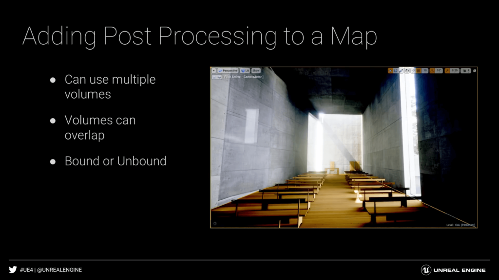 Unreal Engine 4 Adding Post Processing to a Map