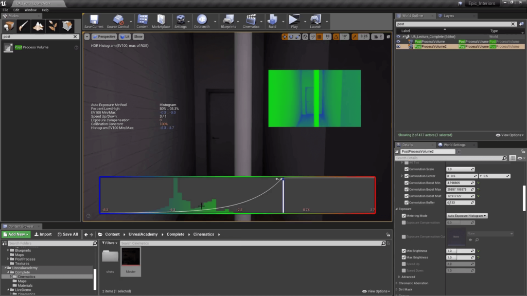 Unreal Engine 4  Exposure Histogram
