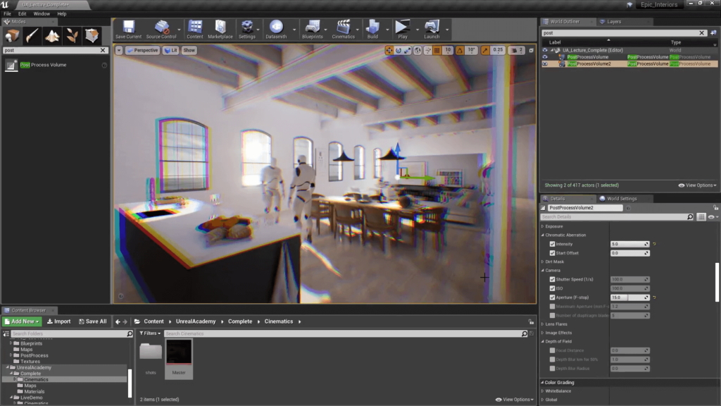 Unreal Engine 4 Chromatic Abberation