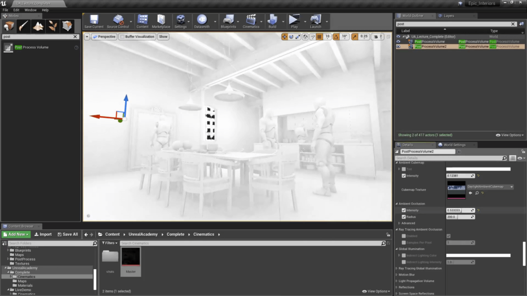Unreal Engine 4 Post Processing - Ambient Occlusion