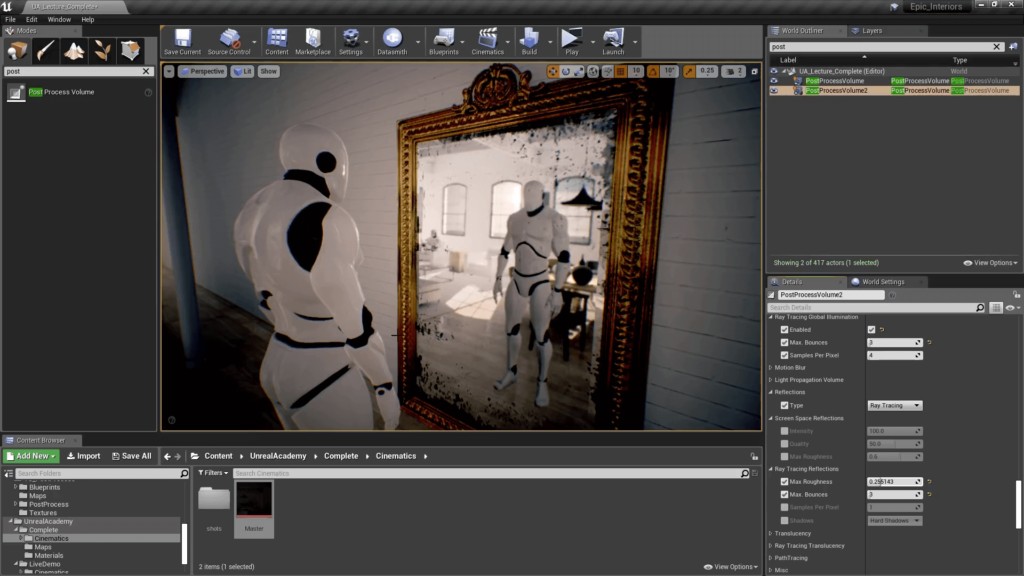 Unreal Engine 4 Post Processing - Ray Traced Reflections